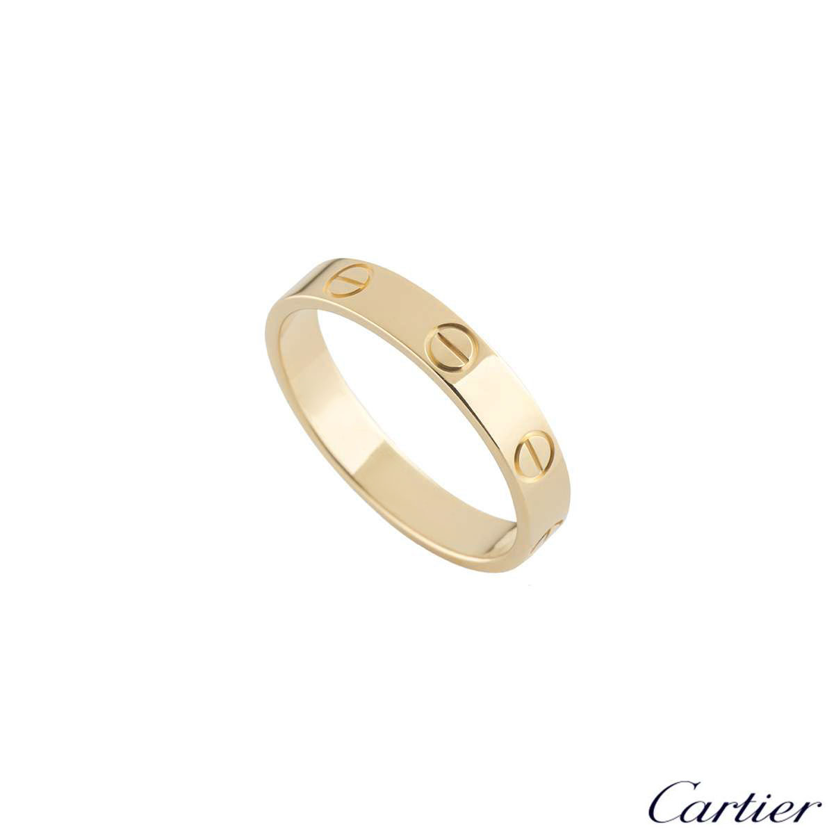Cartier Yellow Gold Plain Love Wedding Band Ring 51 B4085051